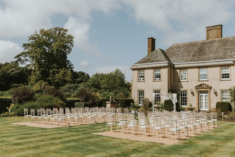 Outdoor Wedding Ceremony At Hethfelton House With Images From Dorset Wedding Photographer Paul Underhill