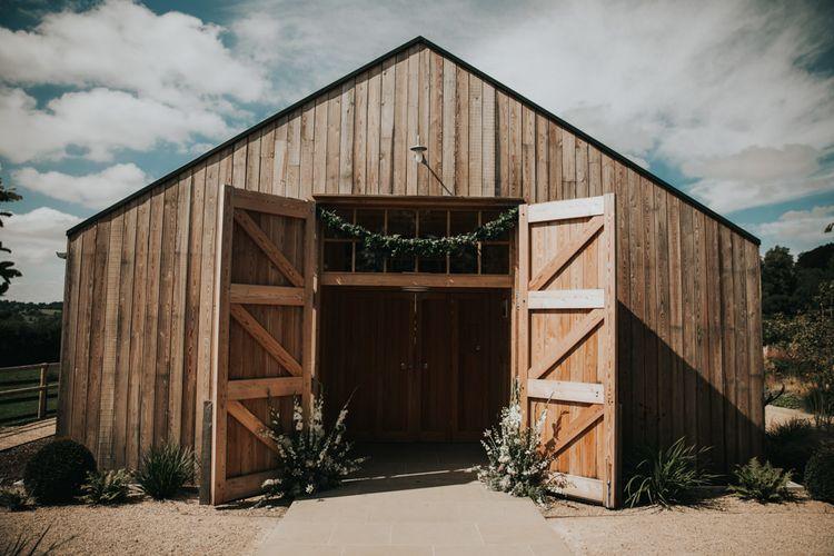 Barn wedding ceremony at Hyde House