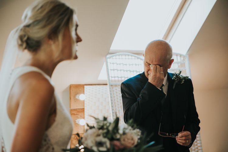 Emotional relatives during bride preparations