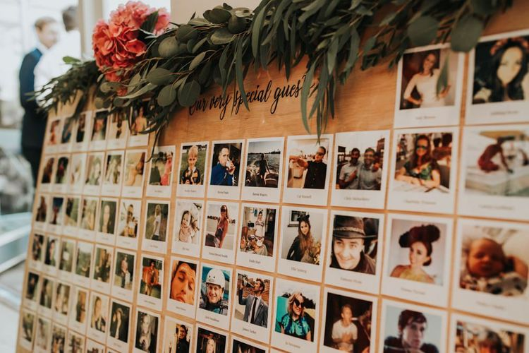 Polaroid wedding photo decor