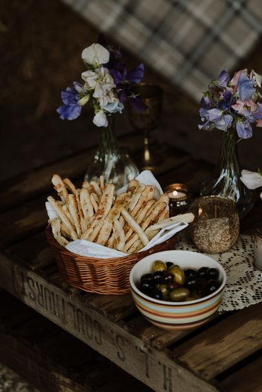 Anti Pasti Breadstick and Olive Nibbles