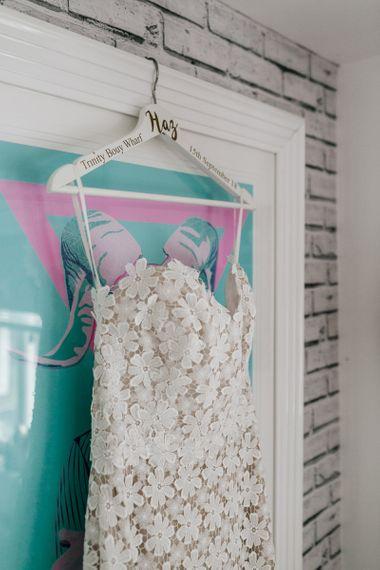 Tara Keely Sweetheart Neckline, Lace Wedding Dress Hanging Up
