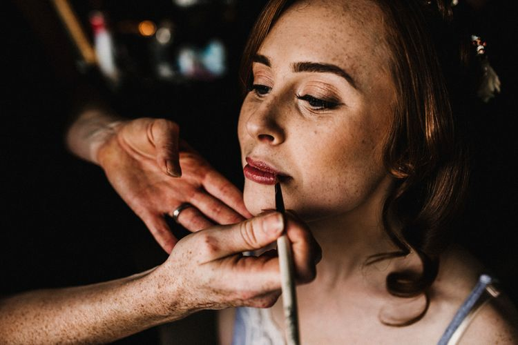 Natural Bridal Makeup | Pre-Raphaelite Mood Wedding at Heaver Castle in Kent | Carla Blain Photography
