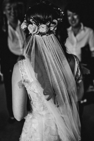 Bride in  Appliqué Flowers Yolan Cris 'Espino' Wedding Dress | Pre-Raphaelite Mood Wedding at Heaver Castle in Kent | Carla Blain Photography