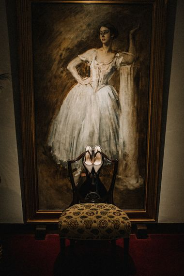 Kurt Geiger Bridal Shoes | Pre-Raphaelite Mood Wedding at Heaver Castle in Kent | Carla Blain Photography
