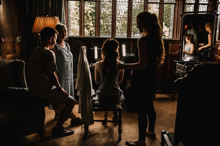 Wedding Morning Bridal Preparations | Pre-Raphaelite Mood Wedding at Heaver Castle in Kent | Carla Blain Photography