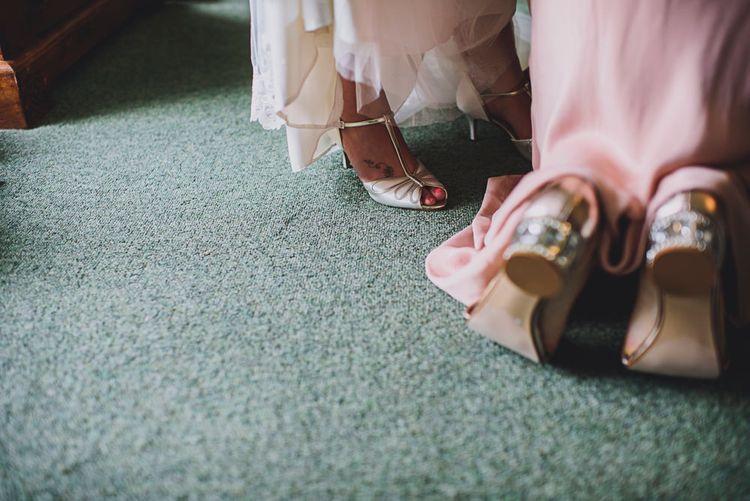 Wedding Morning Bridal Preparations   DIY Bright Family Wedding at Plas Glansevin in Carmarthenshire, Wales    O& C Photography
