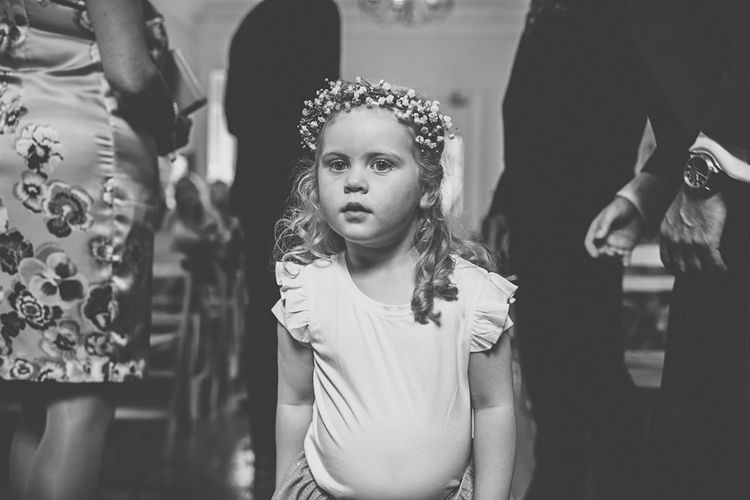 Flower Girl   DIY Bright Family Wedding at Plas Glansevin in Carmarthenshire, Wales    O& C Photography