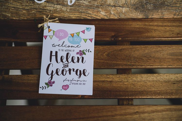 Wedding Stationery   DIY Bright Family Wedding at Plas Glansevin in Carmarthenshire, Wales    O& C Photography