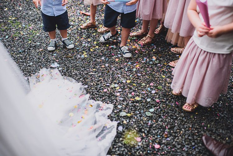 Confetti   DIY Bright Family Wedding at Plas Glansevin in Carmarthenshire, Wales    O& C Photography