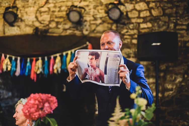 Speeches   DIY Bright Family Wedding at Plas Glansevin in Carmarthenshire, Wales    O& C Photography