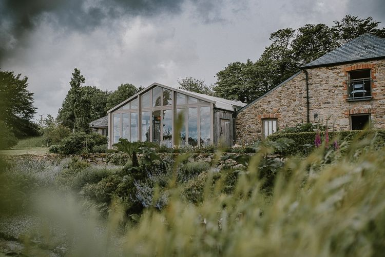 Trevenna Barn, Cornwall Wedding Venue with Glasshouse Extension