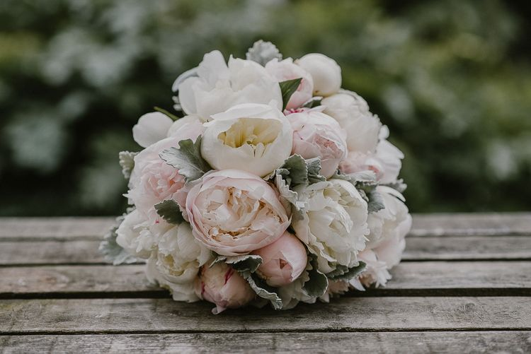 Pink and White Peony Wedding Bouquet