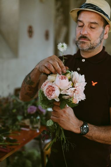 Baby Pink Bouquet | Stylish Two Day Wedding at Château de Varennes, Burgundy, France with I Do BBQ After Party Planned by Bulle & Tulle | Troistudios Photography | Studio80  Film