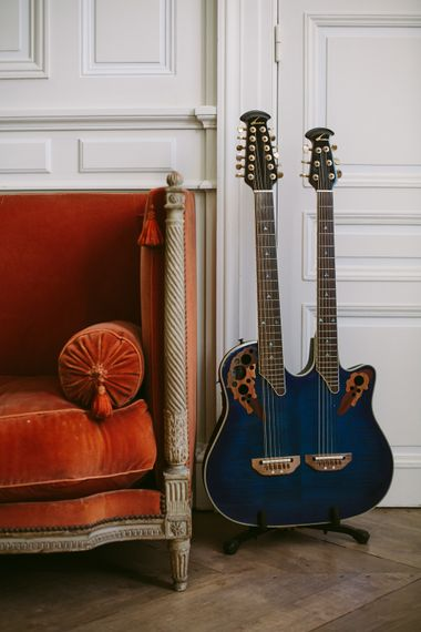 Guitar | Stylish Two Day Wedding at Château de Varennes, Burgundy, France with I Do BBQ After Party Planned by Bulle & Tulle | Troistudios Photography | Studio80  Film