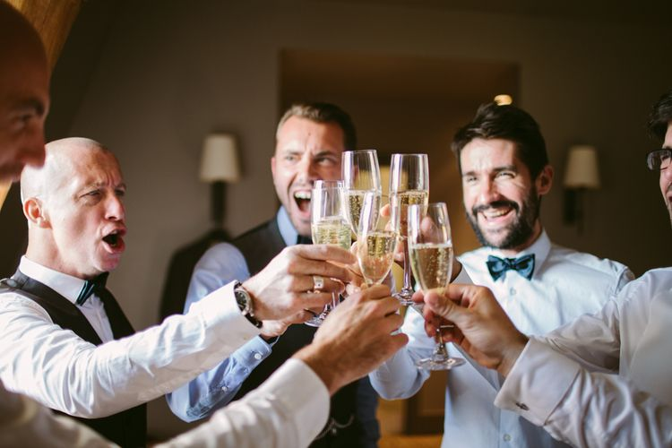 Groomsmen Wedding Morning | Stylish Two Day Wedding at Château de Varennes, Burgundy, France with I Do BBQ After Party Planned by Bulle & Tulle | Troistudios Photography | Studio80  Film