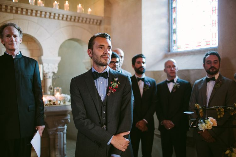 Wedding Ceremony | Groom in Ralph Lauren Suit | Stylish Two Day Wedding at Château de Varennes, Burgundy, France with I Do BBQ After Party Planned by Bulle & Tulle | Troistudios Photography | Studio80  Film