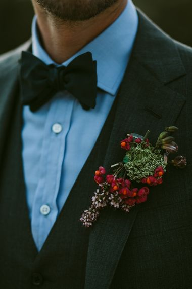 Rad Buttonhole | Stylish Two Day Wedding at Château de Varennes, Burgundy, France with I Do BBQ After Party Planned by Bulle & Tulle | Troistudios Photography | Studio80  Film
