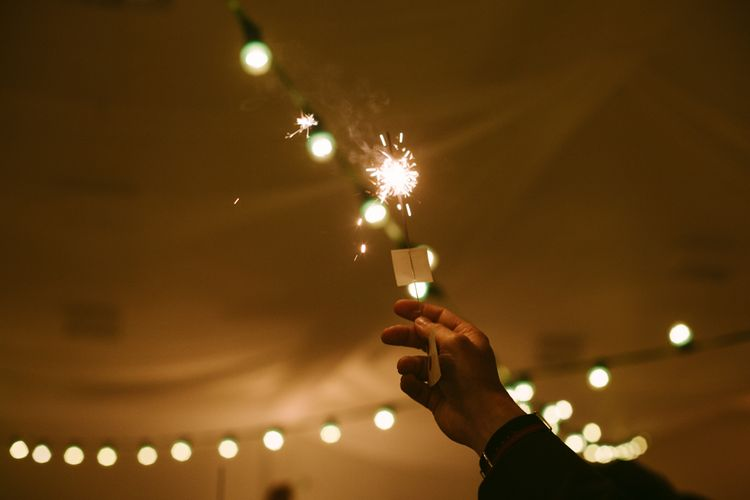 Sparklers | Stylish Two Day Wedding at Château de Varennes, Burgundy, France with I Do BBQ After Party Planned by Bulle & Tulle | Troistudios Photography | Studio80  Film