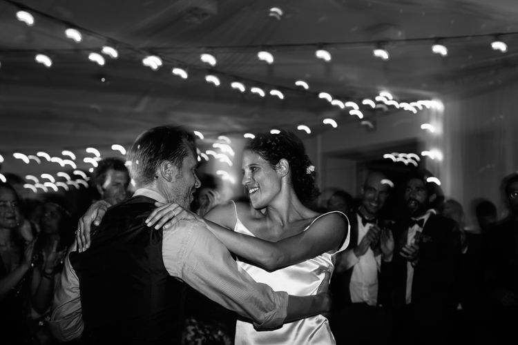 First Dance | Bride in Delphine Manivet  Bridal Separates | Groom in Ralph Lauren Suit | Stylish Two Day Wedding at Château de Varennes, Burgundy, France with I Do BBQ After Party Planned by Bulle & Tulle | Troistudios Photography | Studio80  Film