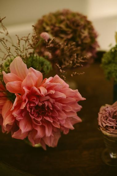 Pink Dahlia Flowers | Stylish Two Day Wedding at Château de Varennes, Burgundy, France with I Do BBQ After Party Planned by Bulle & Tulle | Troistudios Photography | Studio80  Film