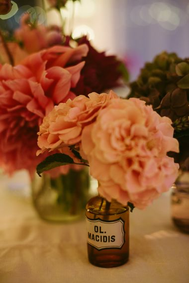 Pink Dahlia & Caarnation Flowers | Stylish Two Day Wedding at Château de Varennes, Burgundy, France with I Do BBQ After Party Planned by Bulle & Tulle | Troistudios Photography | Studio80  Film