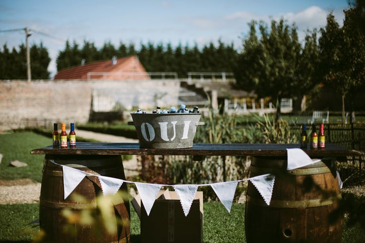 Bunting | Stylish Two Day Wedding at Château de Varennes, Burgundy, France with I Do BBQ After Party Planned by Bulle & Tulle | Troistudios Photography | Studio80  Film