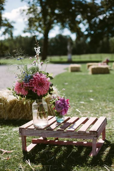 Wedding Flowers | Stylish Two Day Wedding at Château de Varennes, Burgundy, France with I Do BBQ After Party Planned by Bulle & Tulle | Troistudios Photography | Studio80  Film