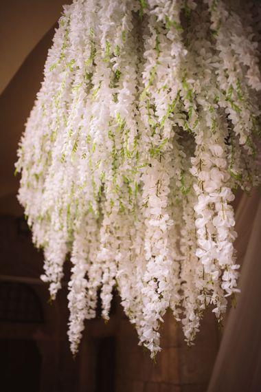 Hanging White Wedding Flowers