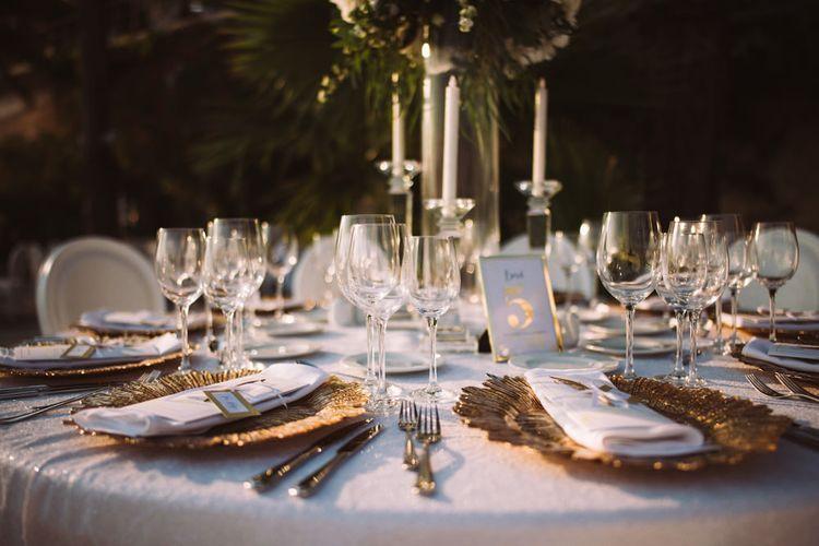 Ornate Gold Platter Place Settings