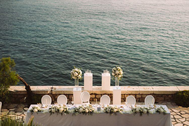 Top Table Overlooking the Dalmatian Coast in Croatia