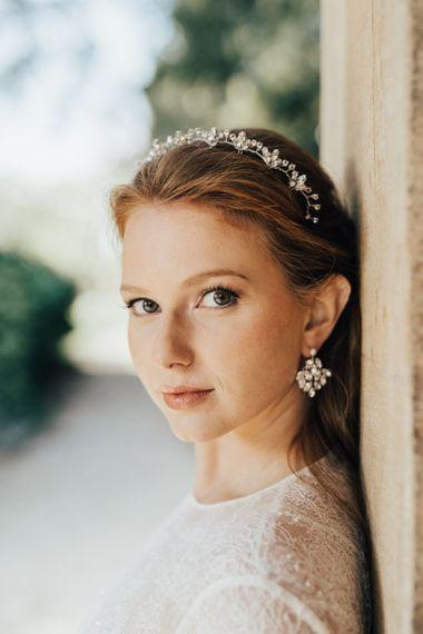 Matching Jewelled Earrings and Headdress