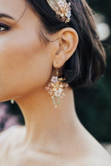 Delicate Jewel Dangly Earrings