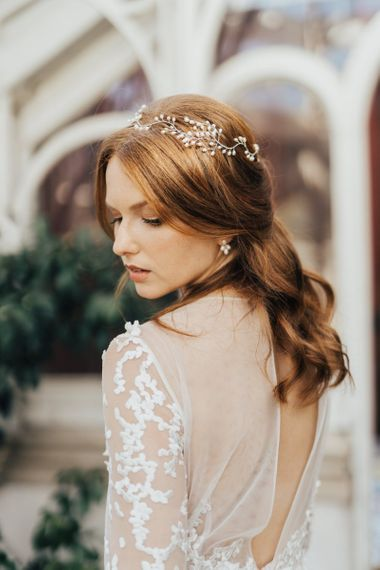 Delicate Pearl Hair Vine Bridal Headdress