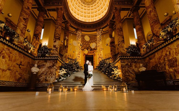 Marble Entrance Hall | Holkham Hall Norfolk Wedding Venue | How to Theme Your Wedding to Compliment Your Wedding Venue  | Andy Davison Photography