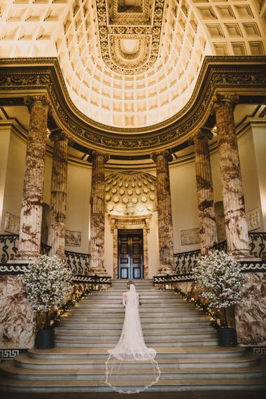 Marble Entrance Hall | Holkham Hall Norfolk Wedding Venue | How to Theme Your Wedding to Compliment Your Wedding Venue