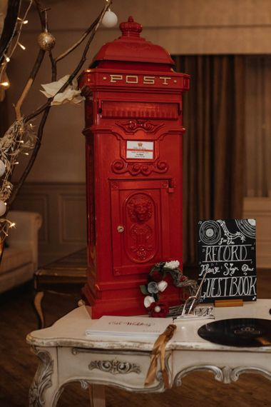Red Post Box for Wedding Cards