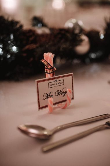 Candy Cane Stand for Name Place Cards