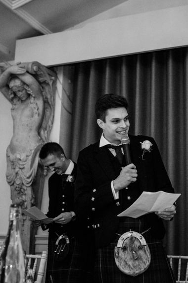 Best Man Giving His Speech During the Wedding Reception