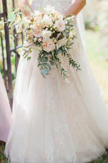 Romantic Bridal Bouquet with David Austin Roses