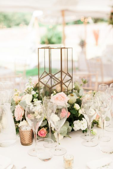 Floral Centrepiece with Gold Vase
