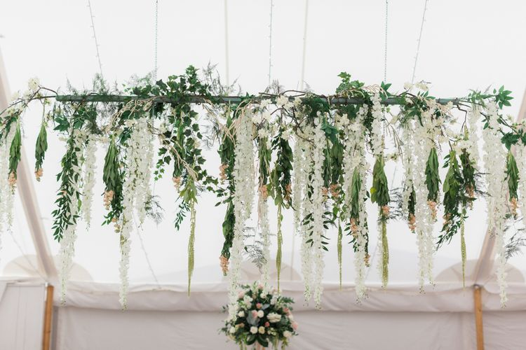 Hanging Flower and Foliage Installation