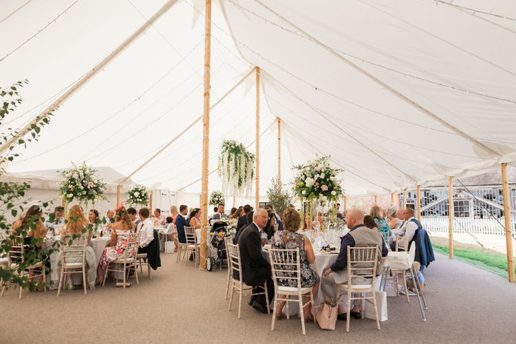 English Country Garden Sperry Tent Marquee Reception