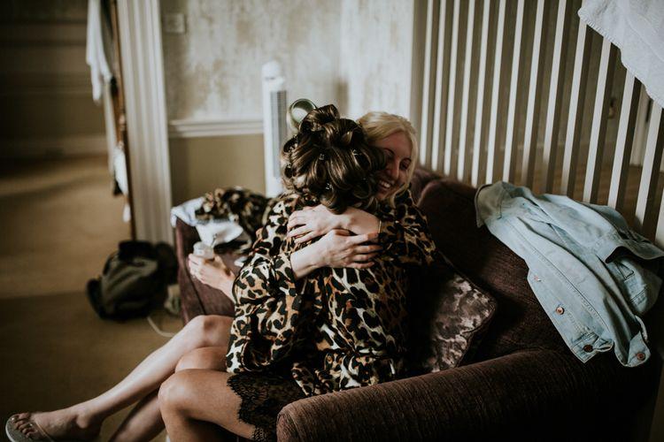 Leopard Print Wedding Morning Getting Ready Robes | W