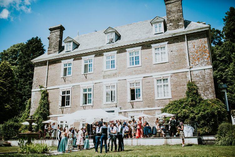 Green, White & Gold Wedding at Buckland Tout Saints, Devon |  Darina Stoda Photography