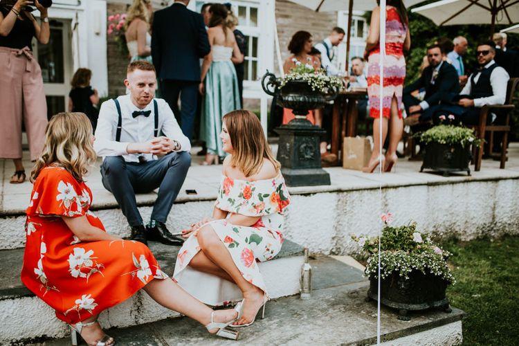 Wedding Guests | Green, White & Gold Wedding at Buckland Tout Saints, Devon |  Darina Stoda Photography