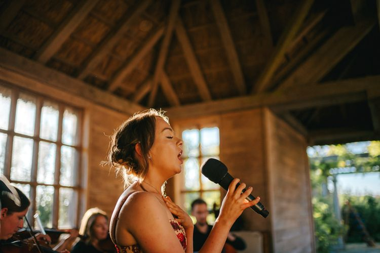 Singing Wedding Guest During Wedding Ceremony