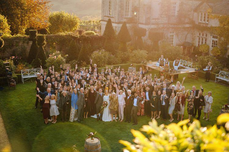 Wedding Guests Portrait in The Gardens of Euridge Manor