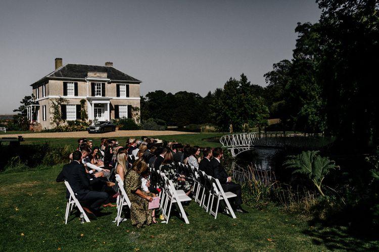Outdoor wedding ceremony at Preston Court