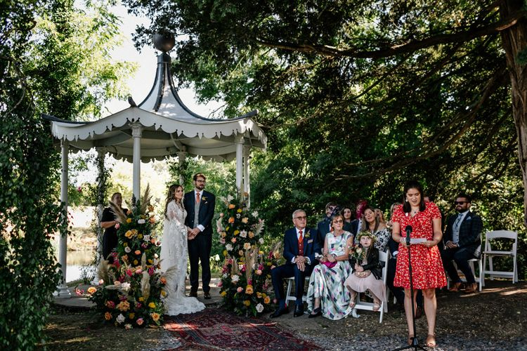 Wedding ready at outdoor wedding ceremony